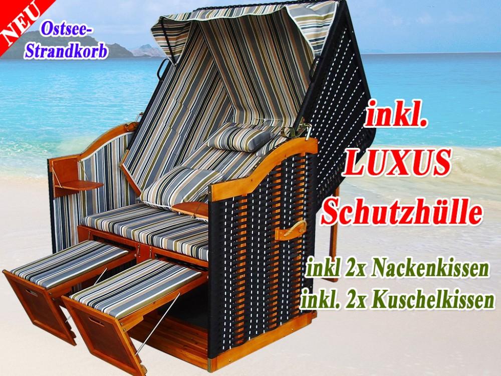strandkorb g nstig kaufen grau blau gr n schutzh lle ostsee strandkorb. Black Bedroom Furniture Sets. Home Design Ideas