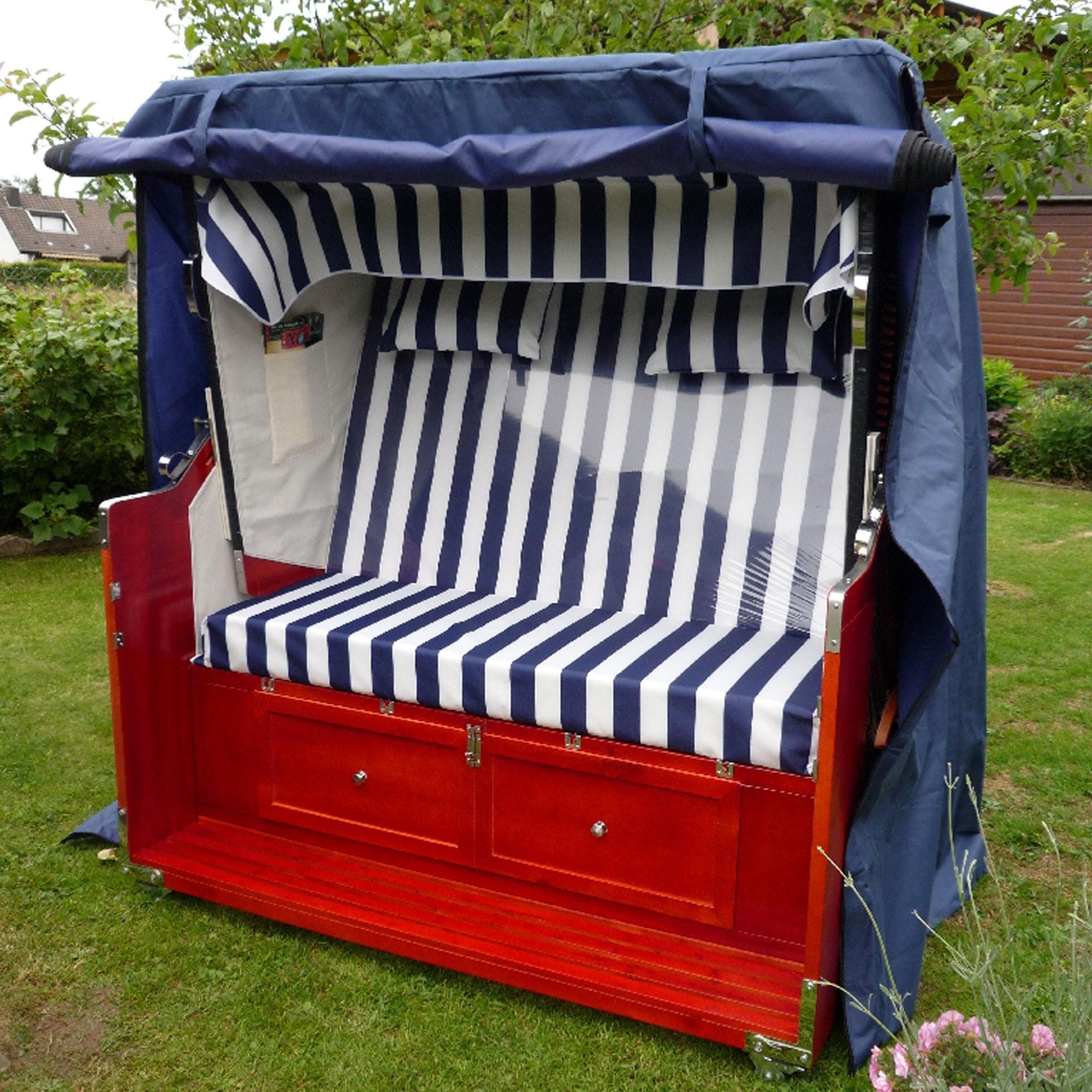 luxus xxl 135cm winterfeste strandkorb schutzh lle bootsplane zubeh r. Black Bedroom Furniture Sets. Home Design Ideas