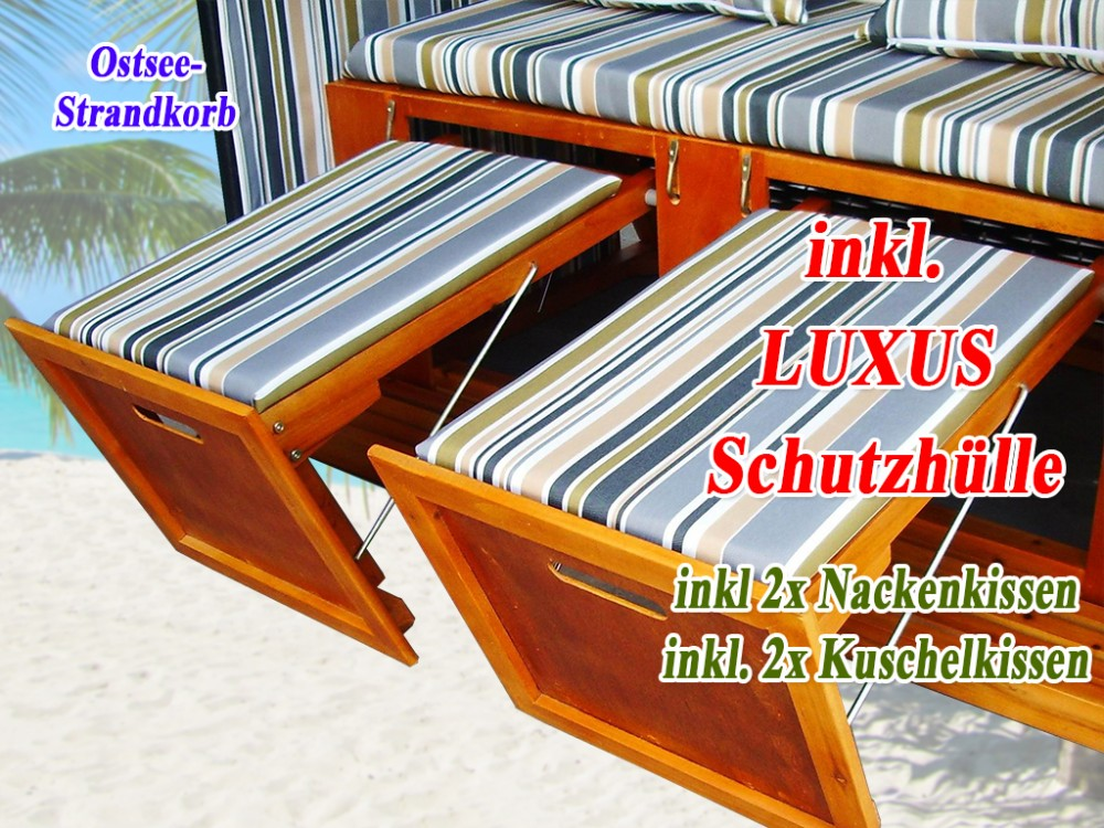 strandkorb g nstig kaufen grau blau gr n schutzh lle. Black Bedroom Furniture Sets. Home Design Ideas
