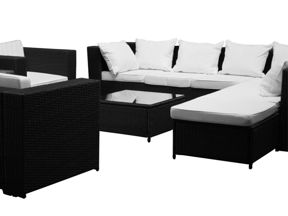 bordeaux polyrattan garden furniture set polyrattan. Black Bedroom Furniture Sets. Home Design Ideas