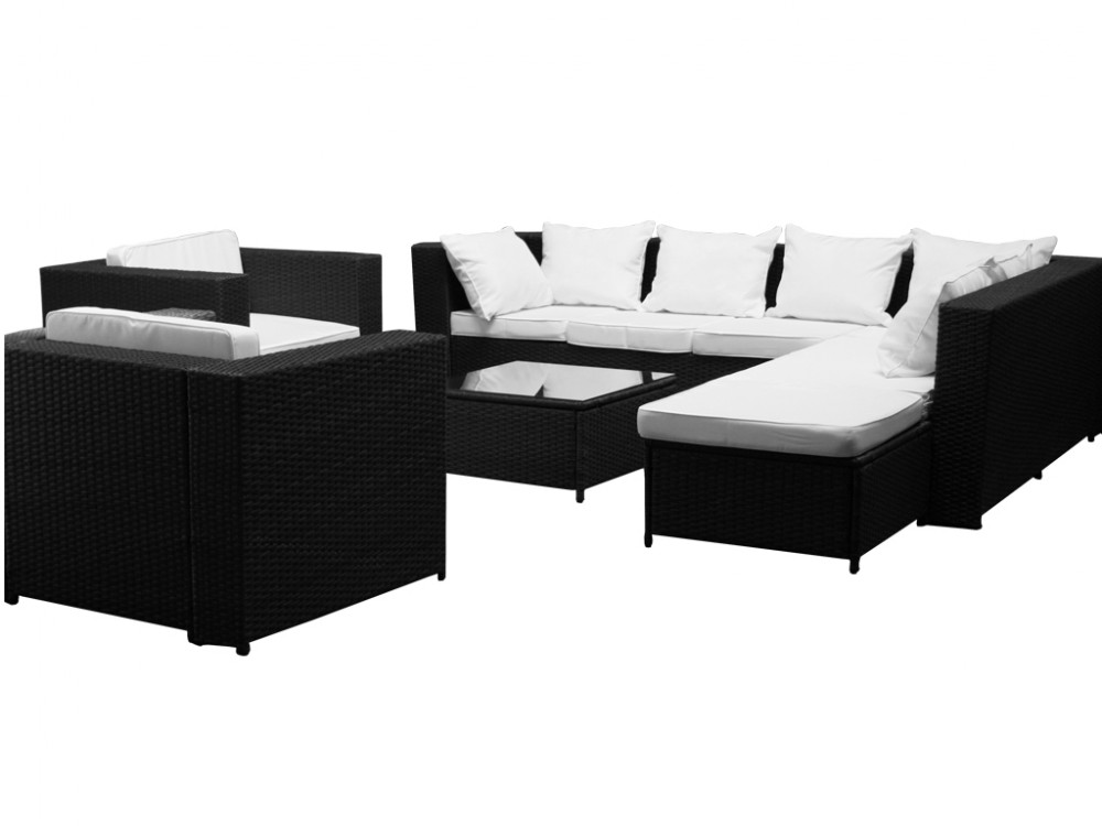 gartenmoebel set rattan guenstig polyrattan esstisch cube. Black Bedroom Furniture Sets. Home Design Ideas
