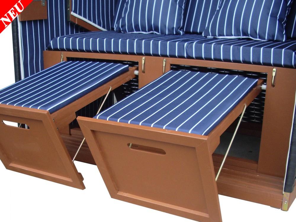 strandkorb classik blau fein winterfeste strandkorbh lle. Black Bedroom Furniture Sets. Home Design Ideas