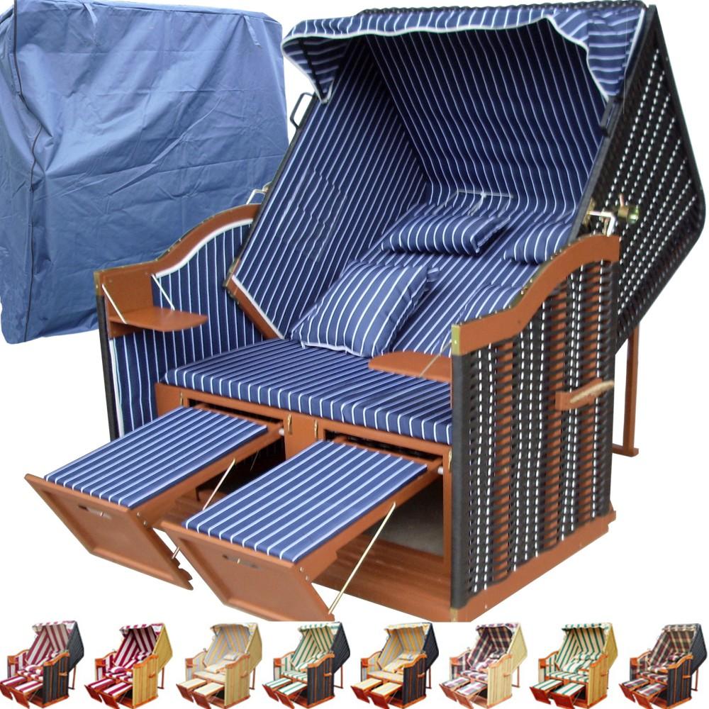 strandkorb classik blau fein winterfeste strandkorbh lle ostsee strandkorb. Black Bedroom Furniture Sets. Home Design Ideas