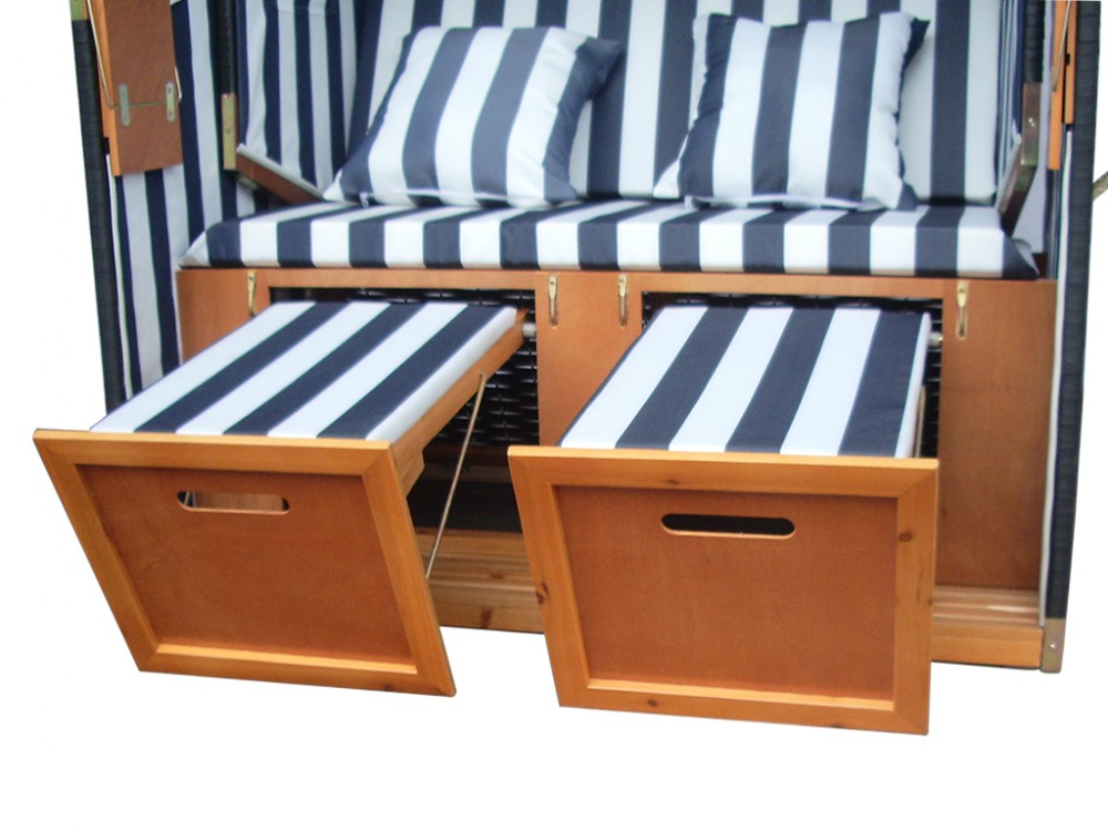 strandkorb ostsee blau schwarz kaufen inkl schutzh lle ostsee strandkorb. Black Bedroom Furniture Sets. Home Design Ideas