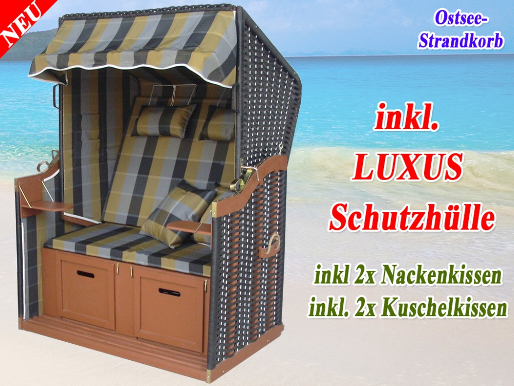 ostsee volllieger klassik strandkorb olive grau abdeckplane ostsee strandkorb. Black Bedroom Furniture Sets. Home Design Ideas