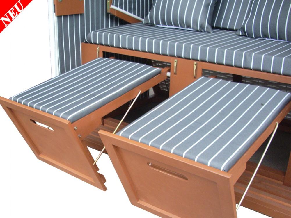 wei er strandkorb anthrazit gestreift fein strandkorbhaube. Black Bedroom Furniture Sets. Home Design Ideas