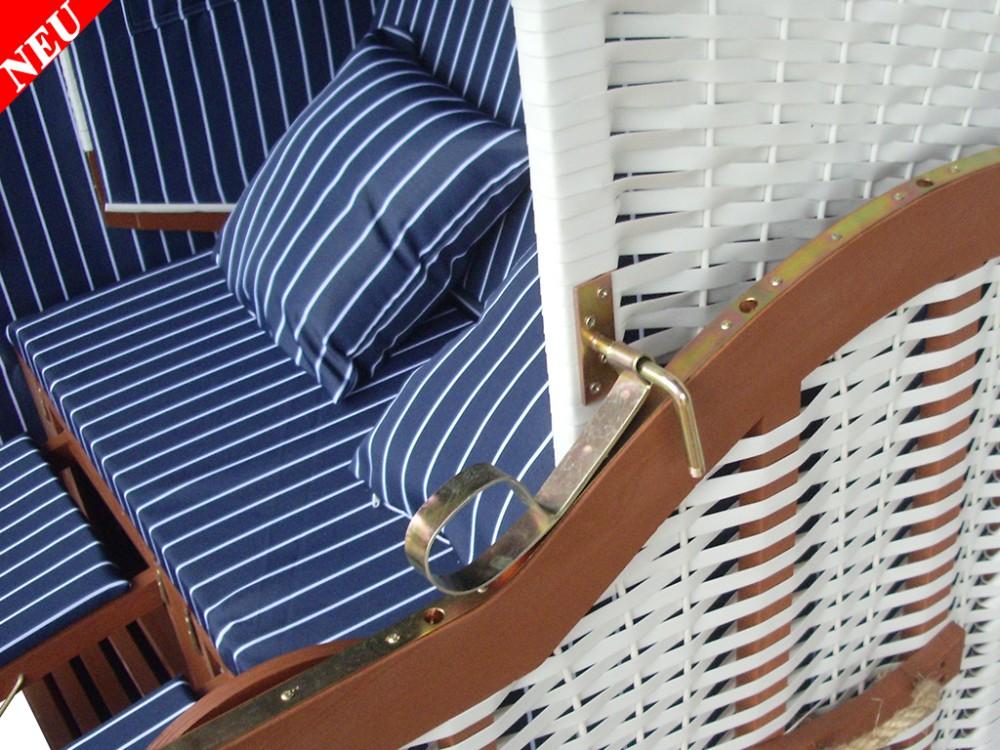 strandkorb blau nadelstreifen inkl schutzh lle ostsee. Black Bedroom Furniture Sets. Home Design Ideas