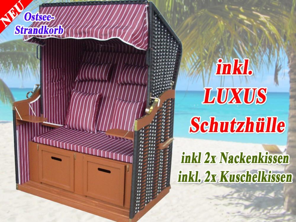 strandkorb vom hersteller rot gestreift fein strandkorbh lle ostsee strandkorb. Black Bedroom Furniture Sets. Home Design Ideas