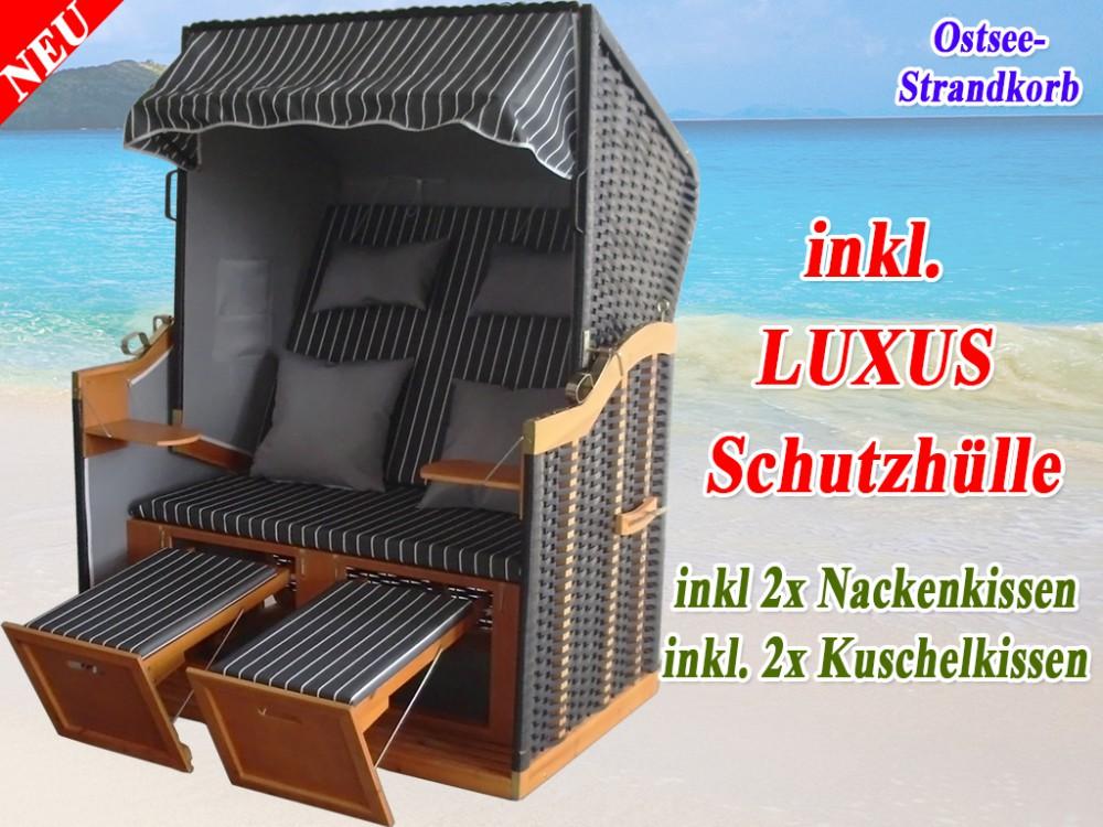 bestseller strandkorb xl anthrazit g nstig kaufen schutzh lle winterfest ostsee strandkorb. Black Bedroom Furniture Sets. Home Design Ideas