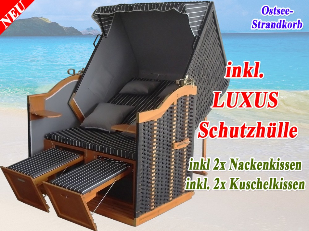 bestseller strandkorb xl anthrazit g nstig kaufen schutzh lle winterfest ostsee strandkorb. Black Bedroom Furniture Sets. Home Design Ideas