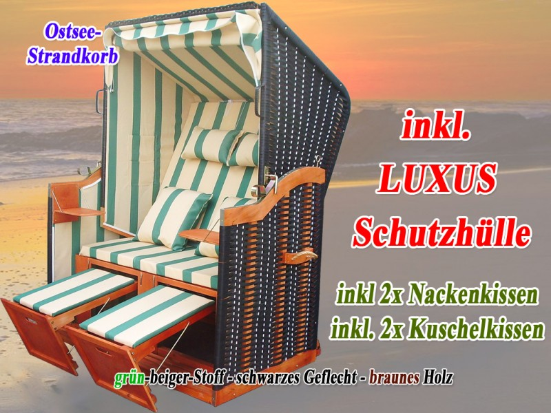 ostsee strandkorb gr n schutzh lle ostsee strandkorb. Black Bedroom Furniture Sets. Home Design Ideas