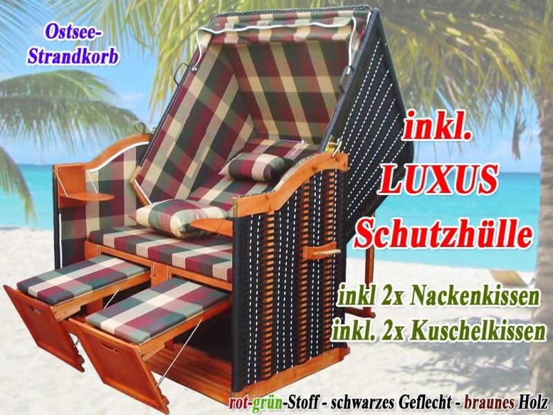 ostsee strandkorb rot gr n karo strandkorbh lle ostsee strandkorb. Black Bedroom Furniture Sets. Home Design Ideas