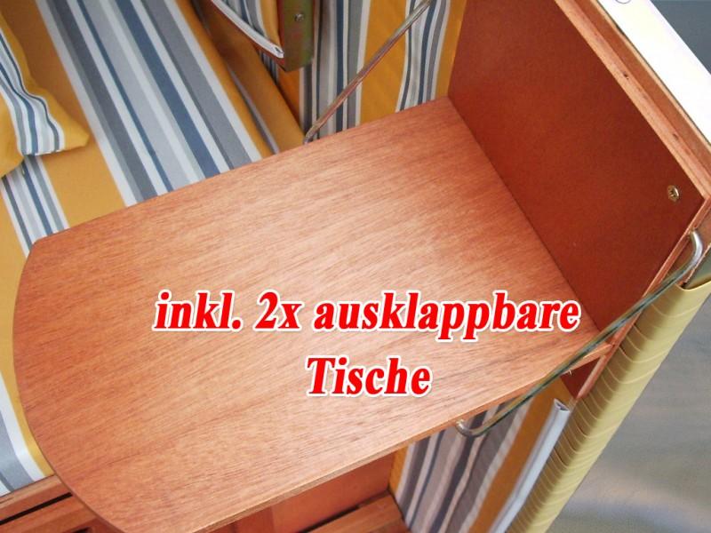 xl ostsee strandkorb gelb blau natur inkl schutzh lle ostsee strandkorb. Black Bedroom Furniture Sets. Home Design Ideas